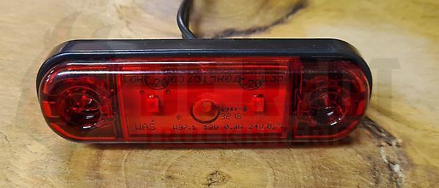 WAŚ LED markeringslamp rood 12/24V - Truckinterieur De Regt