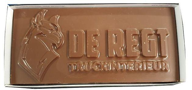 de Regt melkchocolade (20 x 10 cm) - Truckinterieur De Regt