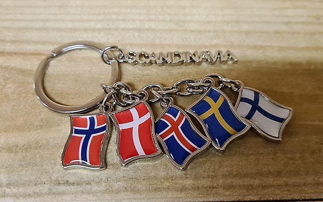 Sleutelhanger Scandinavische vlaggen - Truckinterieur De Regt