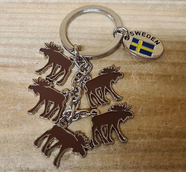 Sleutelhanger elandjes Zweden - Truckinterieur De Regt