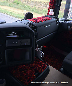Set dashboardplankjes DAF of Scania R2/Streamline Truckinterieur De Regt