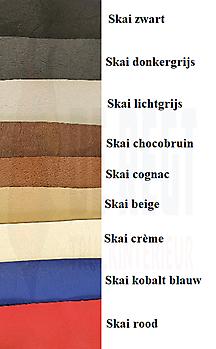 Zijgordijnen stof met skai/pluche-deens rand Truckinterieur De Regt